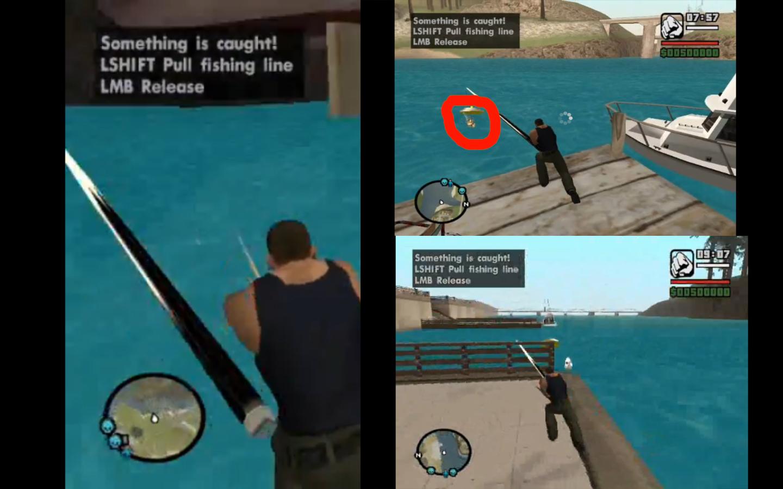 ловля рыбы в гта